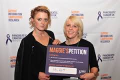 Maggie and Bo Bruce who's mother died of Pancreatic Cancer