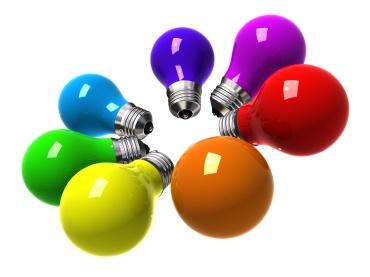 Rainbow light bulbs