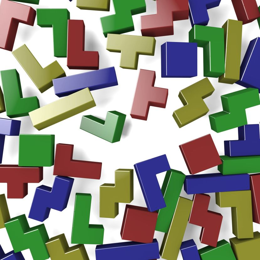 21747888 - blocks of tetris game scattered by explosion