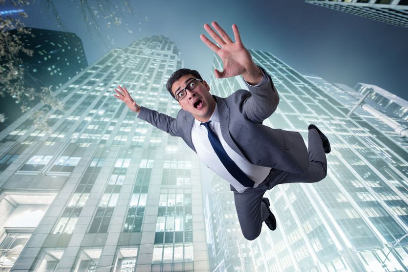 70576999 - businessman committing suicide due to crisis