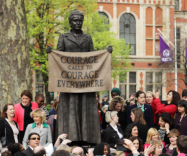 First Female Suffragist Millicent Fawcett Statue Unveiled In Parliament Square